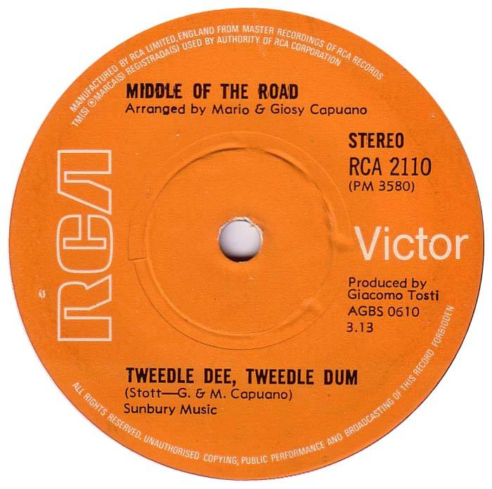 Middle Of The Road Tweedle Dee Tweedle Dum