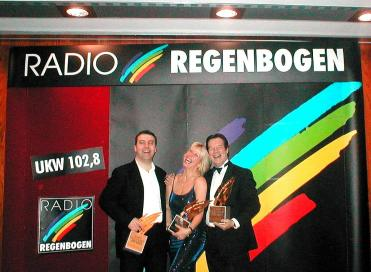 Throwback Thursday: Lorna Osborne, Ian McCredie and Stuart McCredie in the early Noughties with the lovely people at Radio Regenbogen 🐥